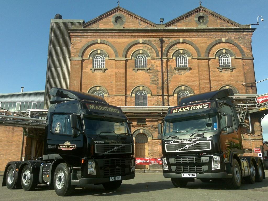 Marstons Volvo Truck installs using Bury Hands Free